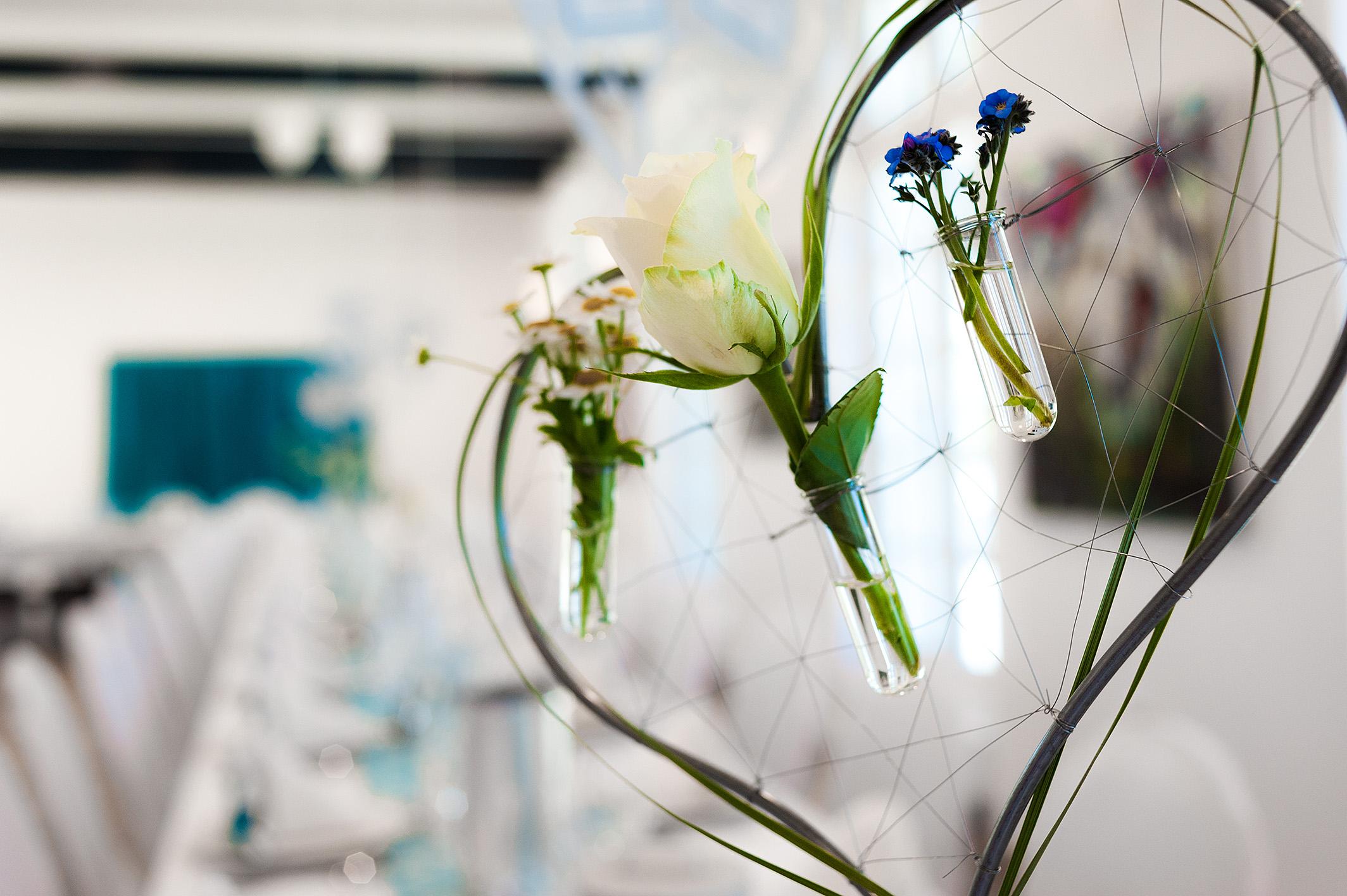 Hochzeitsfeier Dekoration Blumen